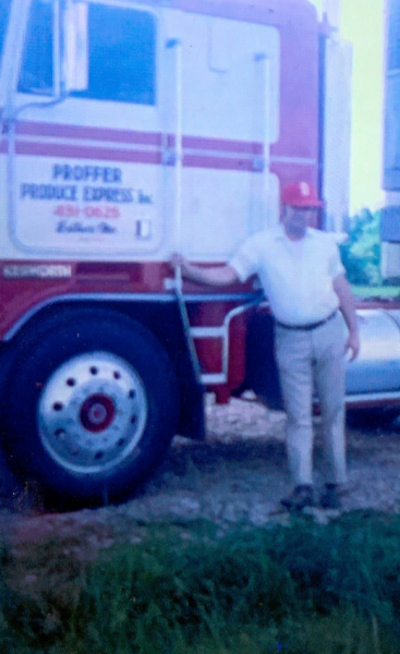 Udell Proffer with old Proffer Express truck